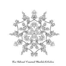 Outline Mandala Of Traditional...