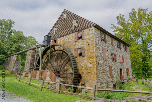 Photo  Rock Run Gristmill at Susquehana State Park Maryland corner view
