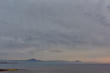 Sunrise Over The Mediterranean Sea. Alicante. Spain