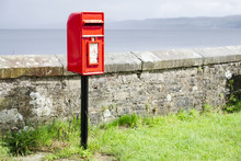 Red Post Box In Scottish Rural...