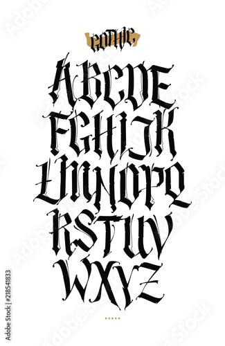 Fotografie, Obraz  Gothic, English alphabet