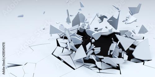 3D Shatter Abstract Wallpap...