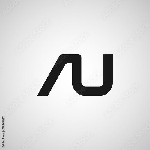 Initial Letter AU Logo Template Design Canvas Print