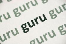 Word Guru Printed On Paper Macro