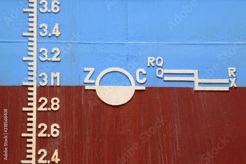 Fotografía  plimsoll mark on the ship