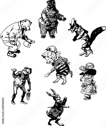 おとぎ話の動物たち Canvas Print