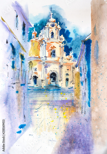 view-of-old-european-cityscape-watercolor-illustration