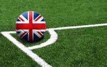 Soccer Ball On A Green Field, ...