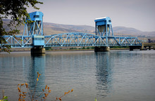 Bridge Over Snake River Between Idaho And Washington State