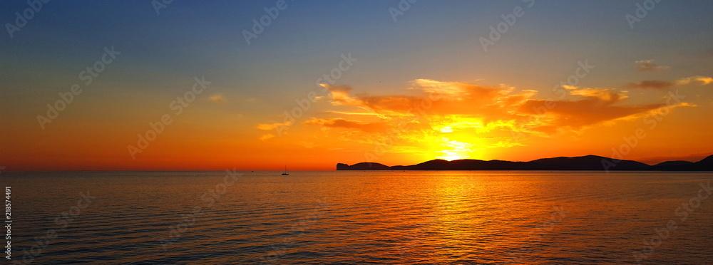 Fototapety, obrazy: Sunset in Alghero,Sardinia,Italy