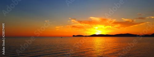 Fényképezés  Sunset in Alghero,Sardinia,Italy