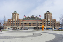 Chicago's Navy Pier With Grand Ballroom On Sunny Day