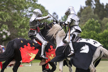 Two Medieval Knights Confront ...