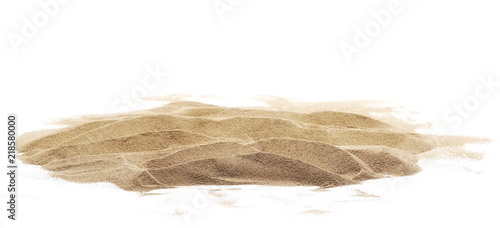 sand pile isolated on white background Wallpaper Mural