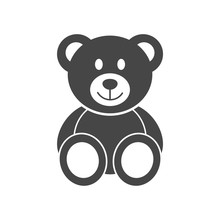 Cute Smiling Teddy Bear Icon Or Logo