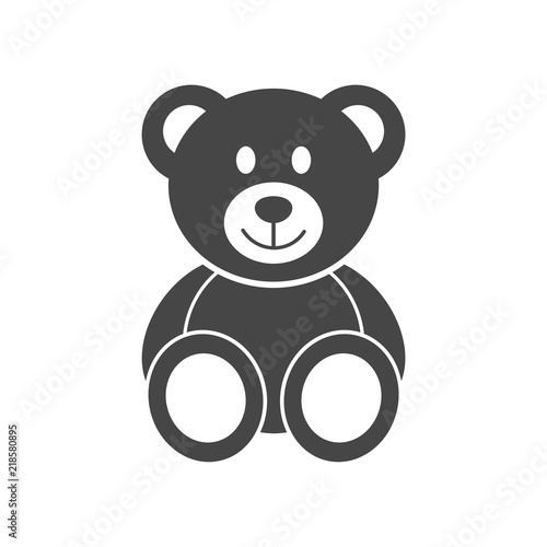 Fotomural Cute smiling teddy bear icon or logo