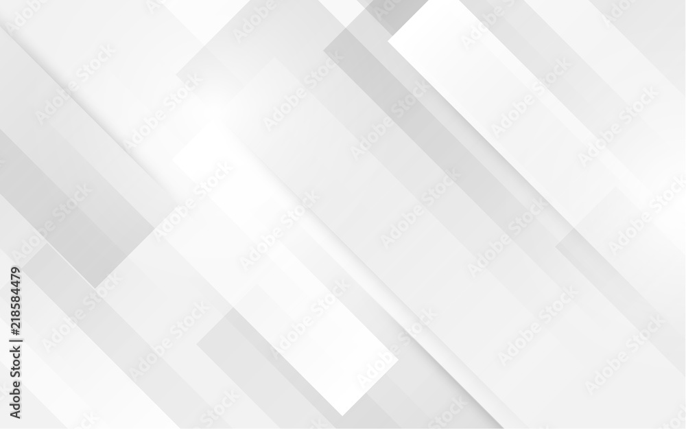 Fototapeta Abstract white square shape with futuristic concept background
