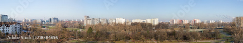 Warsaw - view of the Ursynów housing estate - a large panorama