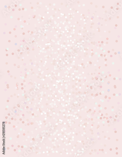 Plissee mit Motiv - Abstract Glossy Dots Vector Background. Geometric Pastel Design. Pink Glamour Illustration.
