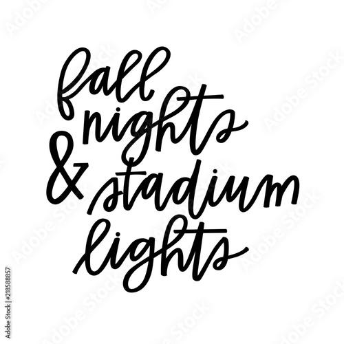 Fall nights and stadium lights Canvas-taulu