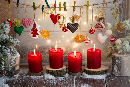 Foto  Christmas Decoration Ornaments/Candles