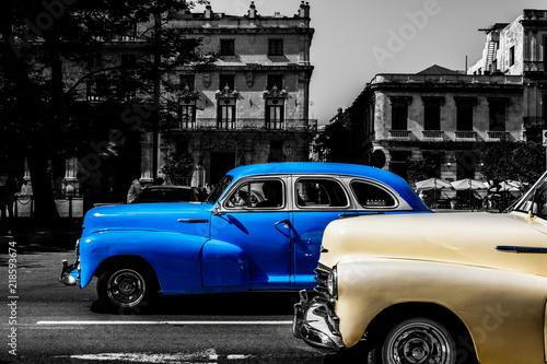 Havana Cuba 2018 Vintage American Classic Cars On The Streets Of