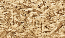 Texture Of Oriented Strand Board, OSB, Natural Background From Pressed Wooden Panel.