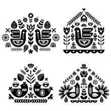 Folk Art Pattern Collection Wi...