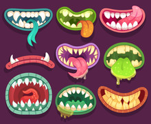 Monsters Mouths. Halloween Sca...