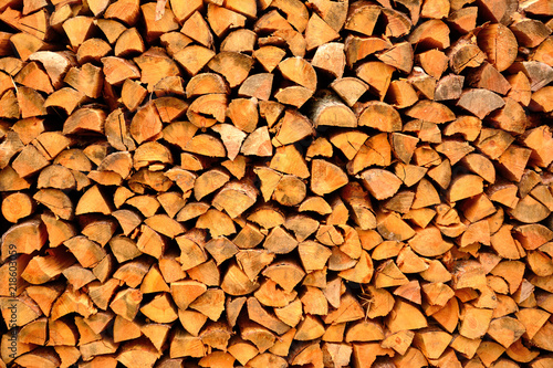 Poster Firewood texture woodpile