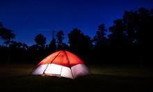Tent In North Carolina Lighted...