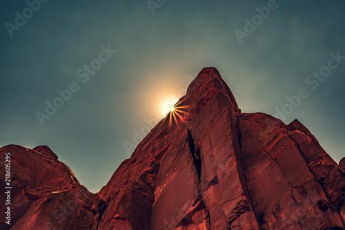 Foto auf Leinwand Kastanienbraun Red Rocks, Arches National Park, Moab, Utah