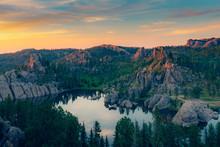 Sunset On Sylvan Lake, South D...