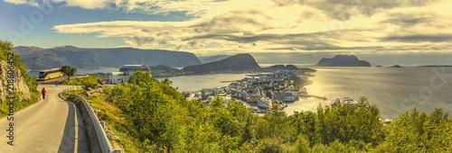 Valokuva  panorama view to alesund - norwegen
