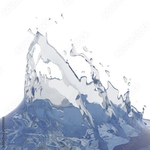 Fototapety, obrazy: Splashing blue sparkling pure water. Abstract nature background