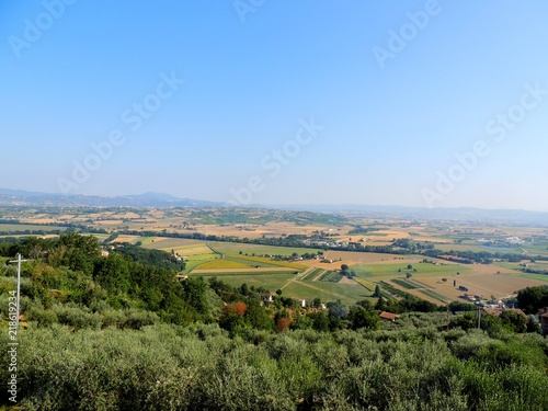 Landscape from Bettona, Umbria (Italy).