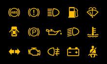 Car Dashboard Sign Indicator S...