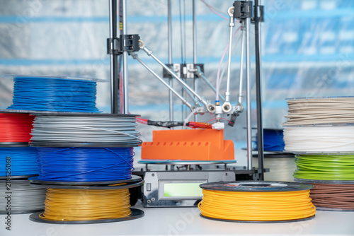 Fototapeta color plastic PLA and ABS filament for printing on a 3D printer