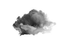 Single Black Cloud Isolated On White Background