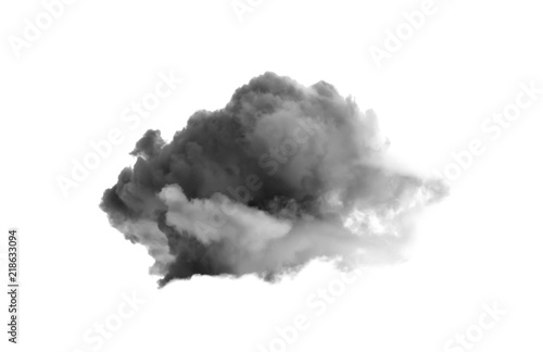 Fototapeta Single black cloud isolated on white background obraz