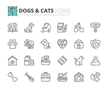 Outline Icons About Dogs And C...
