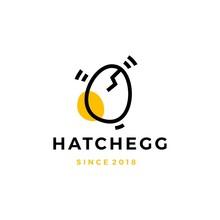 Hatch Egg Logo Vector Icon Ill...