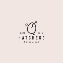 Hatch Egg Logo Hipster Vintage...