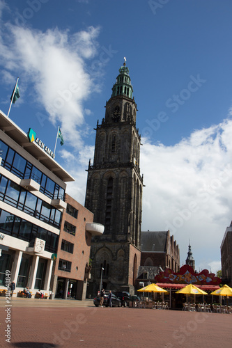 Foto  the beautiful Martinitower from Groningen in Netherlands