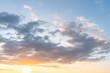 Leinwandbild Motiv sunset clouds with sun setting down