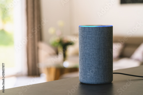 Valokuva  voice controlled smart speaker
