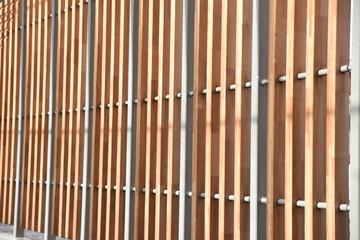 Palissade métal et bois