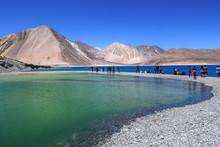 High Altitude Pangong Lake At ...