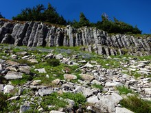 Volcanic Rock Pillars On A Rid...