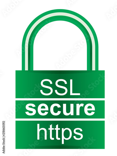 Fotografie, Obraz  Webpage security icon